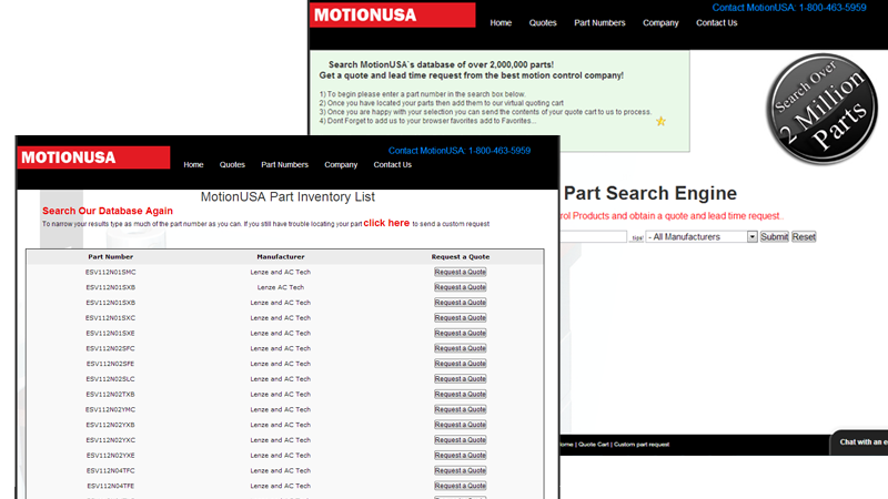 MotionUSA Parts Search Engine
